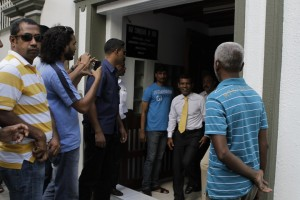 President Nasheed Leaving the Indian High Commission in Male'
