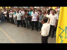 President Nasheed Addressing Supporters at MDP March